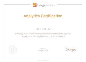 google analytics koolitus certification Priit Kallas