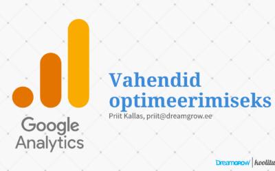Google Analyticsi asjatundja online koolitus