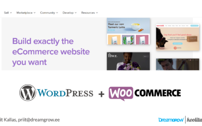 WordPress + Woocommerce koolitus, e-poe tegemise praktikum