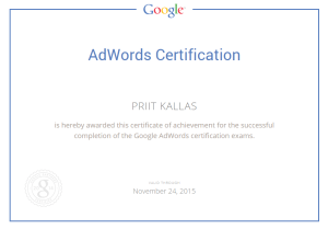 Google adwords koolitus certification Priit Kallas